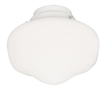 Craftmade LK3CFL-W - 1 Light Bowl Fan Light Kit in White with Cased White Glass