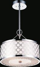 Crystal World 5504P16ST - 4 Light Chrome Down Chandelier from our Swiss collection