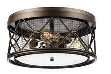 Crystal World 9914C16-3-204 - 3 Light Light Brown Cage Flush Mount from our Kali collection