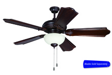 "Craftmade MI52OBG - 52"" Ceiling Fan w/Amber Frost Bowl, Blade Options"