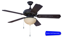 "Craftmade OMI52AGVM - 52"" Ceiling Fan w/LED Light Kit, Blade Options"