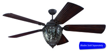 "Craftmade OV70AG - 70"" Ceiling Fan w/Light Kit, Blade Options"