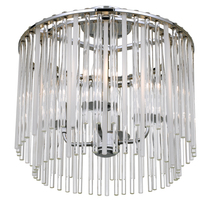 Crystorama 394-CH_CEILING - Bleecker 4 Light Polished Chrome Ceiling Mount