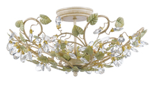 Crystorama 4840-CT - Crystorama Josie 5 Light Semi-Flush