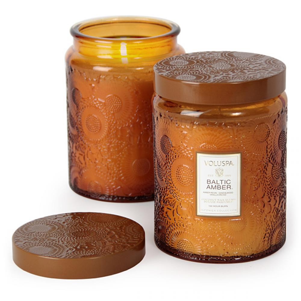 voluspa - Large Baltic Amber Candle/ 16 oz. 100 hr