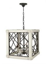 McManus Items LA501 TAUPE - Zeugma Import - Large Ant Wht Lantern with Iron