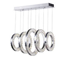 CWI Lighting 1046P26-5-601-RC - LED Chandelier with Chrome Finish