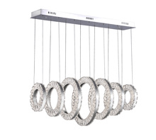 CWI Lighting 1046P37-7-601-RC - LED Chandelier with Chrome Finish