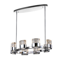 CWI Lighting 1061P31-8-601-O - 8 Light Chandelier with Chrome Finish