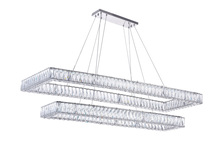 CWI Lighting 1084P52-601-RC-2C - LED Chandelier with Chrome Finish