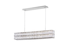 CWI Lighting 1085P47-601-RC-2C - LED Chandelier with Chrome Finish