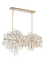 CWI Lighting 1087P40-12-620 - 12 Light Chandelier with Gold Leaf Finish