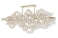 CWI Lighting 1087P58-15-620 - 15 Light Chandelier with Gold Leaf Finish