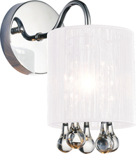 Crystal World 5006W5C-1 (W) - 1 Light Bathroom Sconce with Chrome finish