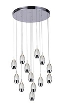 CWI Lighting 5077P24C-R - 13 Light Multi Light Pendant with Chrome finish