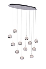 CWI Lighting 5444P34C-O - 12 Light Multi Light Pendant with Chrome finish