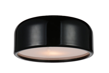 Crystal World 9688C14-2-171 - 2 Light Drum Shade Flush Mount with Black finish