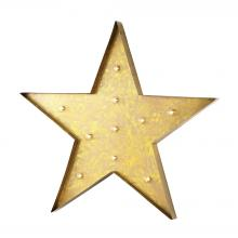 Sterling Industries 51-034 - Star Marquee Sign In Antique Yellow
