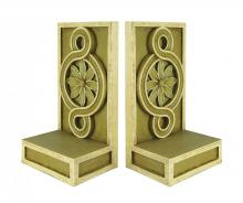 Sterling Industries 93-0942 - PAIR MEDALLION SCROLL BOOKENDS