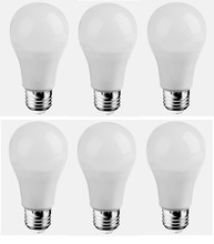 Elegant A19LED205-6PK - LED A19, 3000K, 300�, CRI80, ES, UL, 6.5W, 40W EQUIVALENT, 25000HRS, LM480, DIMMABLE, 3 YEARS WARRAN