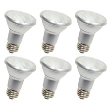 Elegant P20LED203-6PK - LED PAR20, 5000K, 40�, CRI80, ES, UL, 7W, 50W EQUIVALENT, 25000HRS, LM550, DIMMABLE, 3 YEARS WARRANT