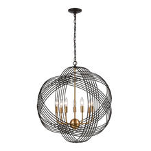 ELK Lighting 11194/7 - Concentric 7-Light Chandlier in Oil Rubbed Bronze with Clear Crystal Beads