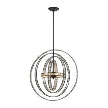 ELK Lighting 31661/6 - Crystal Orbs 6-Light Chandlier in Oil Rubbed Bronze with Crystal