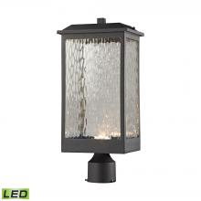 ELK Lighting 45204/LED - Newcastle 1-Light Outdoor Post Mount in Textured Matte Black - Integrated LED