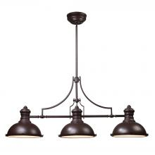 ELK Lighting 66135-3 - Chadwick 3-Light Island Light in Oiled Bronze with Matching Shade