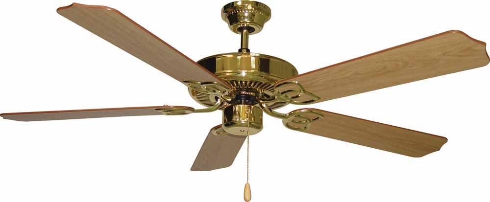 Minster Polished Br Ceiling Fan